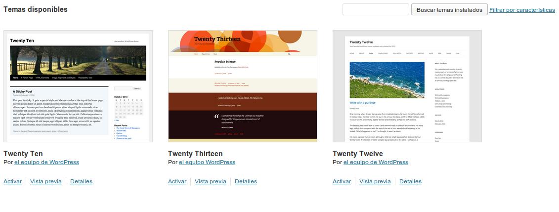 Como cambiar el tema - Soporte a Blogs - Sistema de Gestión de ...